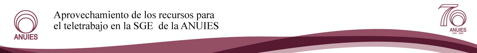 Aprovechamiento de los recursos para el teletrabajo en la SGE de la ANUIES